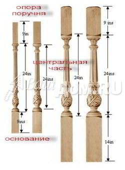 Декоративные шары из дерева для лестниц и кроватей на заказ