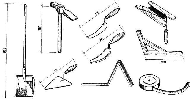 Инструмент каменщика