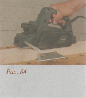 Работа рубанком - Снятие фальца
