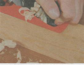 Работа рубанком - Использование шерхебеля