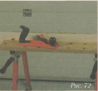 Работа рубанком - Портативный складной верстак