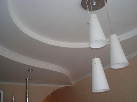 Гипсокартонный многоуровневый потолок