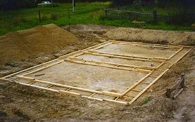 Строительство фундамента дома из пенобетона