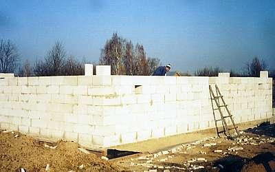 Строительство подвала дома из пенобетона окончено