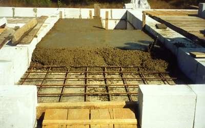 Заливка бетона перекрытия