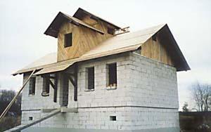 Дом из пенобетона практически готов