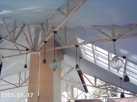 Натяжной потолок сложной формы