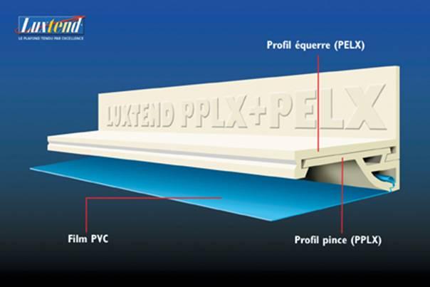 Натяжной потолок с клиновидной системой крепления