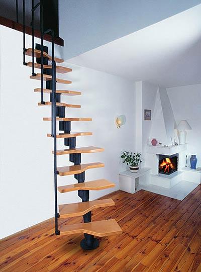 Лестница «гусиный шаг» в доме