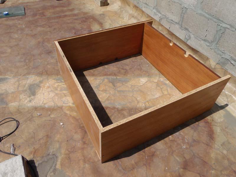 Деревянный короб солнечного коллектора