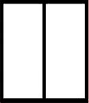 Окно, разделённое на две равные части вертикальным импостом