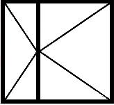 Окно с двумя поворотными створками