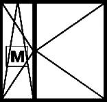 Окно с двумя поворотными створками, одна из которых (узкая) поворотно-откидная и оборудована легкосъёмной рамкой с противомоскитной сеткой
