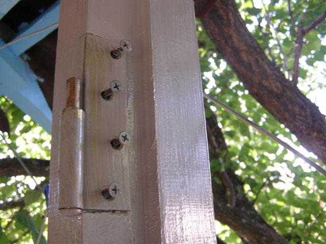 Дверные петли крепятся к дверной коробке