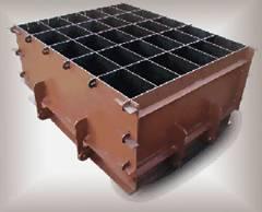 Производство пенобетонных блоков в формах - Металлические формы с основанием и бортами на петлях