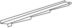 Аксессуары для элитной металлочерепицы – элемент примыкания к стене левый