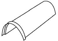 Аксессуары для элитной металлочерепицы - коньковый элемент полугруглый