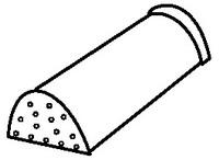 Аксессуары для элитной металлочерепицы - коньковый элемент окончания гребня