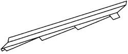 Аксессуары для элитной металлочерепицы - элемент примыкания к стене правый