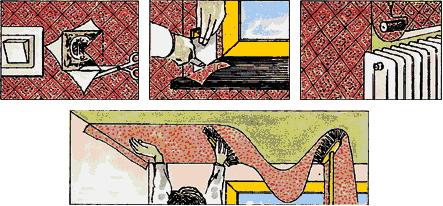 Трудности поклейки обоев - поклейка обоев возле окон, батарей, розеток, на потолок