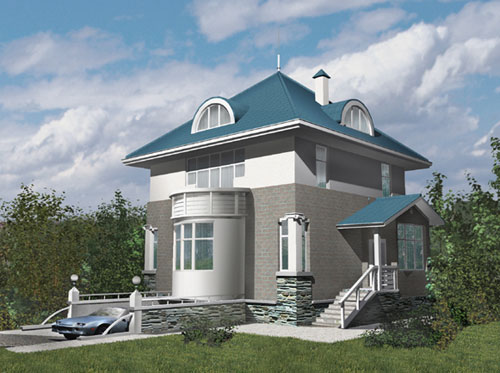 Дом в форме куба