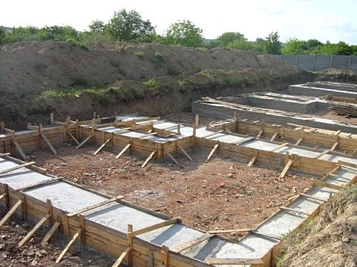 Cтроительство ленточного фундамента дома