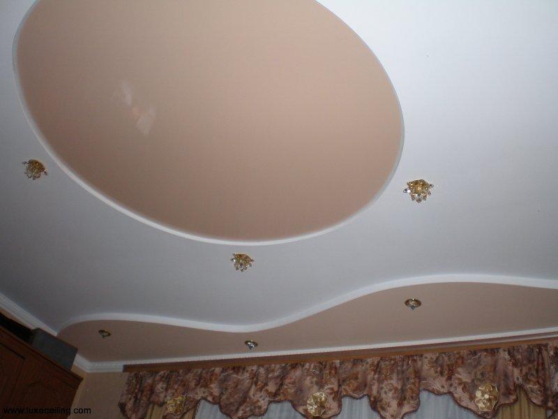 Гипсокартонный подвесной многоуровневый потолок