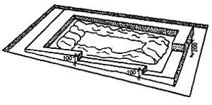 Рис. 5. Ленточный фундамент на косогоре