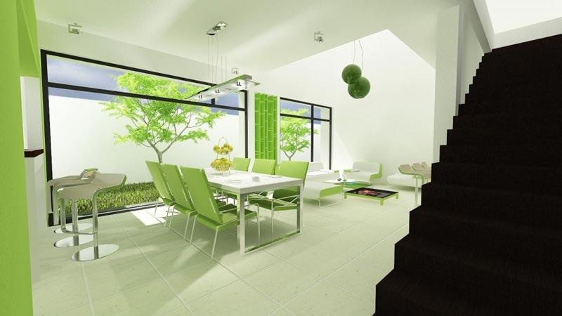 Использования белого цвета всегда помогает зрительно увеличить размер комнат