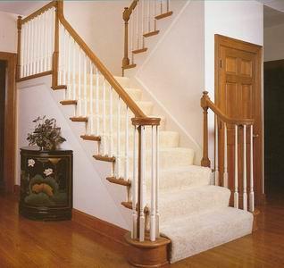 Облицовка лестниц деревом - пример лестницы