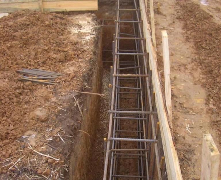 Строительство армированого фундамента дома