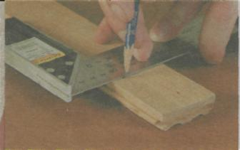 Отверстие в древесине - Использование уголка