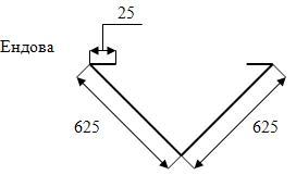 Рис. 7. Монтаж ендовы для кровли из металлочерепицы