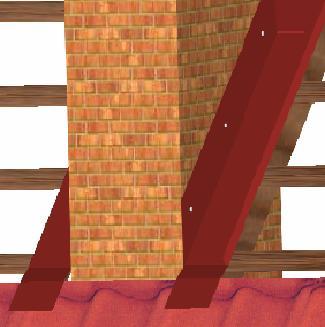 Рис. 9. Крепление планки стыка к стене