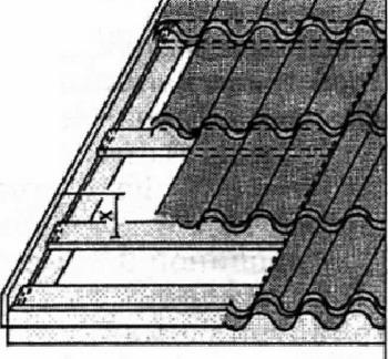 Рис. 1. Монтаж торцевой доски и планки для листов металлочерепицы