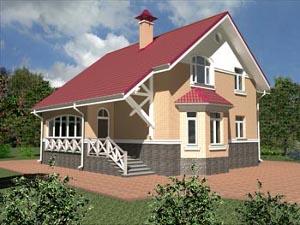 Шадрино кирпичный дом