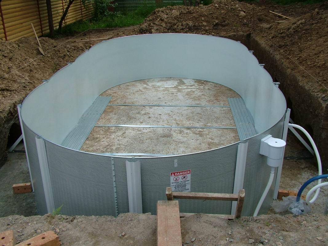 Самый простой бассейн своими руками на даче фото