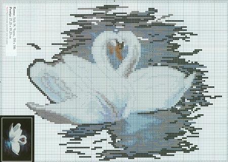 Схемы для вышивки крестом лебедей  лебединая пара бесплатно 2189945b1a93a