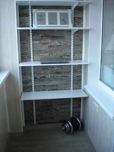 стеллаж на балкон своими руками металлический деревянный