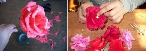 Топиарий из гофрированной бумаги своими руками: мастер класс, фото, из цветов, как сделать шар из гофробумаги, видео, из цветной креповой бумаги, мк из крепированной бумаги пошагово
